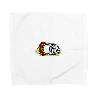 寝てるだけおうさま Towel handkerchiefs