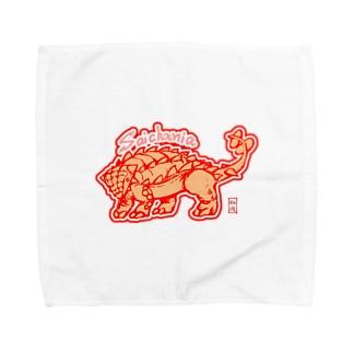 恐竜グッズ・サイカニア Towel handkerchiefs