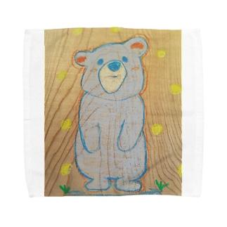 癒しのくまさん Towel handkerchiefs
