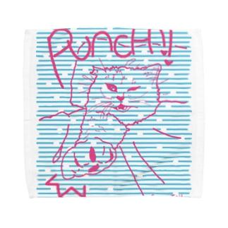 布団の中から猫パンチ Towel Handkerchief