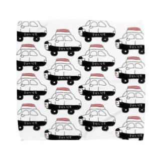 パトカー Towel handkerchiefs
