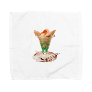 ふくだのバナナパフェ Towel Handkerchief