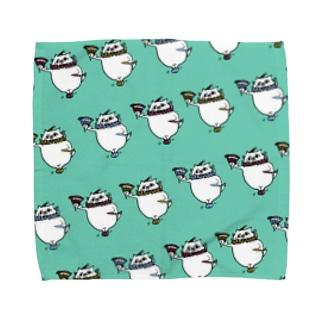 やせいのぐーにゃん(道化) Towel handkerchiefs