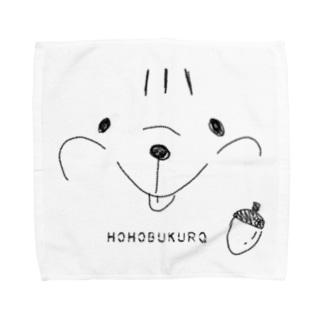 リス HOHOBUKURO Towel handkerchiefs