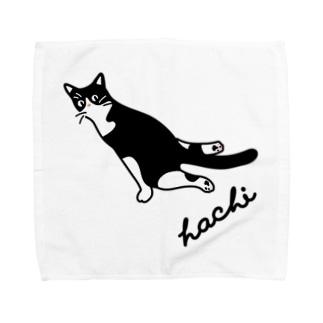 ハチワレ猫 ハチ タオルハンカチ Towel handkerchiefs