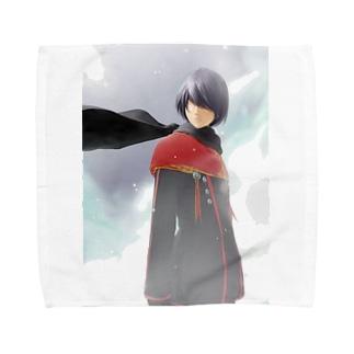 闘技演武【公式グッズ】MWF02漆黒の翼マイト Towel handkerchiefs