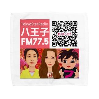 愛LOVE八王子QRコード Towel handkerchiefs