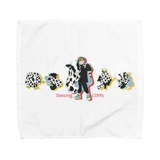 Dancing COWs Towel handkerchiefs