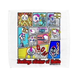 LINEスタンプ「モヒオの気持ち」 Towel handkerchiefs