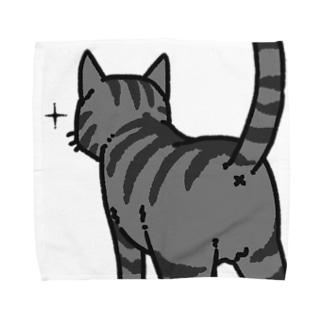 ねこけつ(サバトラ、アップ) Towel handkerchiefs