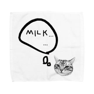 ミルクほしいネコ Towel handkerchiefs