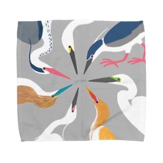 鷺の婚姻色パレット Towel handkerchiefs