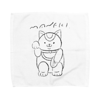招き猫 Towel handkerchiefs