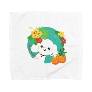 LEAちゃん(グリーンブルー) Towel handkerchiefs