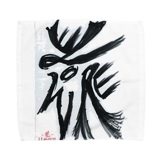 障がい者アート「花-FLOWER-」 Towel handkerchiefs