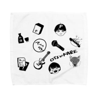 思い出詰め白黒Ver Towel handkerchiefs