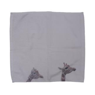 Fog and giraffe Towel handkerchiefs