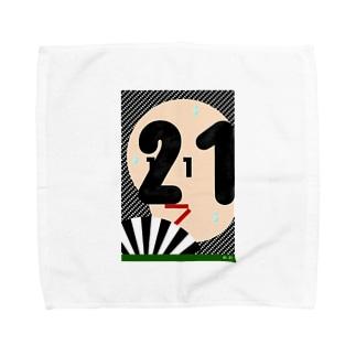 日付顔グラフ 1月21日 Towel handkerchiefs