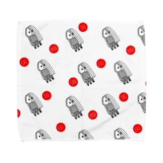 アマビエさま ドット疫病退散 Towel handkerchiefs