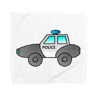 警察車両 Police Car Towel handkerchiefs