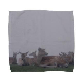 Fog and deer II Towel handkerchiefs
