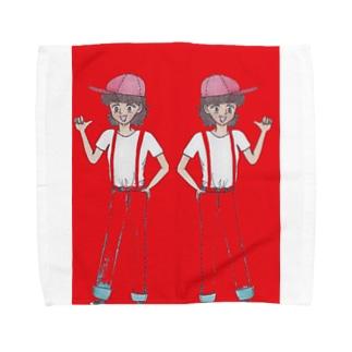 双子姉妹 Towel handkerchiefs