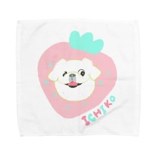 「保護犬カフェ支援」グッズ いちこさん Towel handkerchiefs