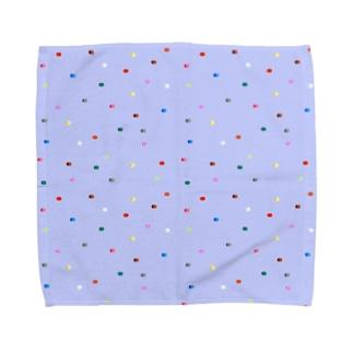 ドット絵のアイロンビーズ Towel handkerchiefs
