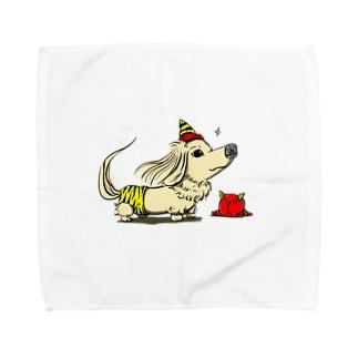 鬼のパンツ装着 Towel handkerchiefs
