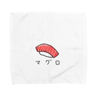 マグロのお寿司 カタカナ Towel handkerchiefs