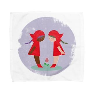 赤い頭巾 Towel handkerchiefs