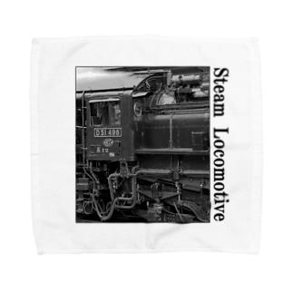 D51498 運転席周辺 黒いレタリング (モノクロフォト) Towel handkerchiefs