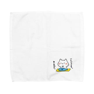 いただきますねこ Towel handkerchiefs