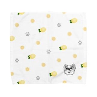 【タオルハンカチ】ウチの仔レモン Towel handkerchiefs