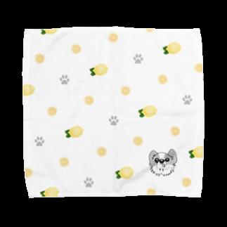 『レモンのれ』SUZURI店の【タオルハンカチ】ウチの仔レモン Towel handkerchiefs