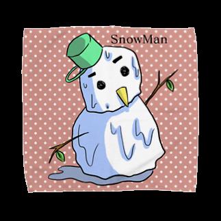 さやめストアの溶ける雪だるま Towel handkerchiefs