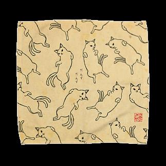 だんすだんすのミナヌクッタ店のだんすだんす総柄 Towel handkerchiefs