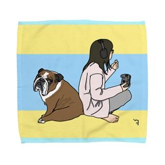 ボーイ君〜福丸さん Towel handkerchiefs