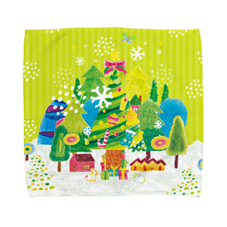 引野 裕詞のchiristmas tree Towel handkerchiefs