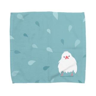 水もしたたる文鳥 Towel handkerchiefs