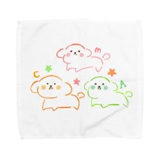 わんちゃんトリオ🐶 Towel handkerchiefs