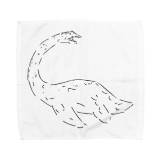 プレシオサウルスのタオルハンカチーフ Towel handkerchiefs