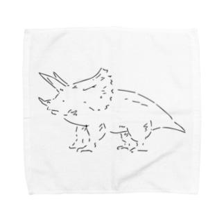 トリケラトプスのタオルハンカチーフ Towel handkerchiefs