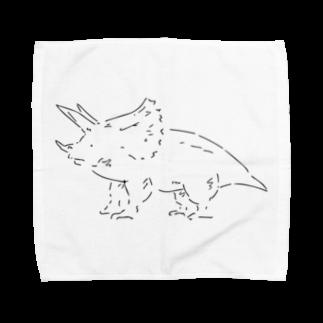 菅原商店のトリケラトプスのタオルハンカチーフ Towel handkerchiefs