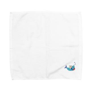 いわしちゃん おやすみ Towel handkerchiefs