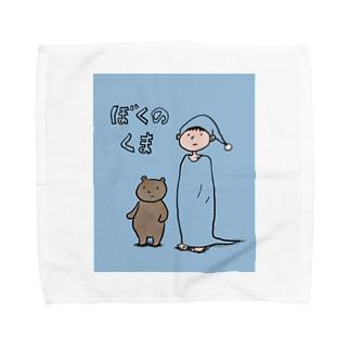 ぼくのくま Towel handkerchiefs
