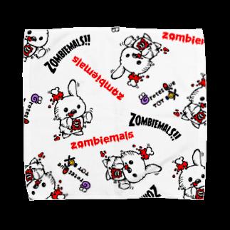 グロテスクトイボックスのゾンビマルズ Towel handkerchiefs