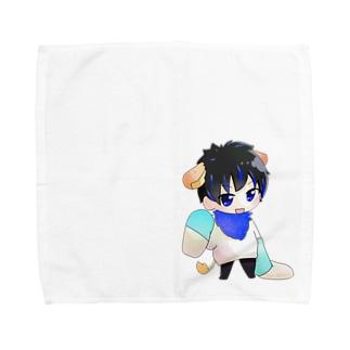 2頭身かじゅたんシリーズ Towel handkerchiefs