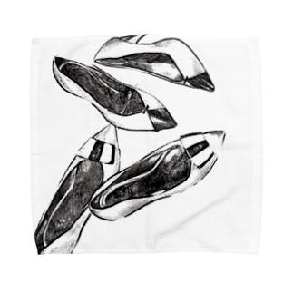 ヒールの靴 Towel handkerchiefs
