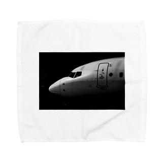 モノクロ飛行機 737 Towel handkerchiefs
